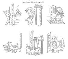 Scottie Dogs for Days of the Week Kitchen dish towels 7060 embroidery transfer