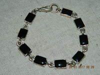 ~~~Wunderschöne Armkette schwarzer Guss Modeschmuck Armband ~~