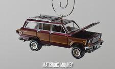 Vintage Style 1981 Custom AMC Jeep Wagoneer Limited 4x4 Christmas Ornament 1/64