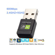 Wireless Lan USB PC WiFi Adapter Network Card 802.11AC 600Mbps Dual Band 2.4G 5G