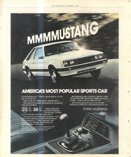 """(RST8) POSTER/ADVERT 13X11"""" FORD MUSTANG"""