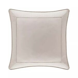 J Queen Rigoletto Blush Euro Sham NEW Pink Ivory Sateen 26 x 26 Pillow Cover