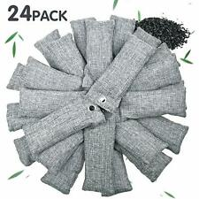 24 Pack Bamboo Charcoal Air Purifying Bag for Shoes Natural Air Purifying Bags