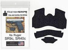 Black Tractiongrips grip tape overlay for Ruger SR9c, SR40c / rubber grips