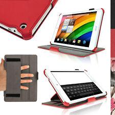 """Rosso Eco Pelle Custodia Cover per Acer Iconia A1-830 7.9"""" Stand Sottile Case"""