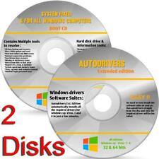 Windows 8 64 bit install reinstall refresh recovery repair DVD Support 2 dvd's