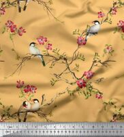 Soimoi Fabric Magnolia & Franklin Gull Bird Fabric Prints By Yard - BRD-30H