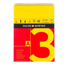 Daler Rowney A3 Espiral Cartucho papel 150gm artista Sketch Book Cojín De Arte