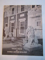 1957 SIGMA ALPHA EPSILON FRATERNITY OF SMU - BOOKLET - VERY NICE - TUB RRR