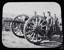 Glass Magic lantern slide 15LB GUN & MEN OF 73 R.D.A AT ALBERTINE C1900 BOER WAR