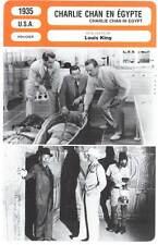 CHARLIE CHAN EN EGYPTE - Oland (Fiche Cinéma) 1935 - Charlie Chan in Egypt