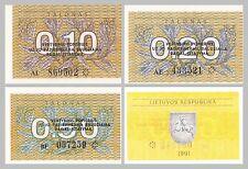 Litauen / Lithuania 0.1, 0.2, 0.5 Talonas 1991 unz.