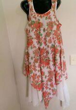 Asymmetrical Hem Machine Washable Floral Regular Dresses for Women