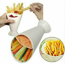 Dipper Fry Snack Cone Stand French Fries Sauce Ketchup-Dip Holder Container L0Z0