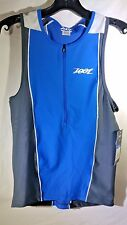 Men's Zoot Performance Tri Tank Size Small Zoot Blue / Pewter