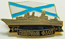 BATTLESHIP Russian Navy Northern Fleet Military Metal Badge Original