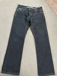 MANS ETO DENIM JEANS SIZE 34R. Dark Blue