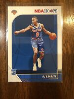 2019-20 NBA Hoops RJ BARRETT RC Rookie Card #201 New York Knicks