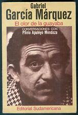 GABRIEL GARCIA MARQUEZ BOOK EL OLOR DE LA GUAYABA FIRST EDITION
