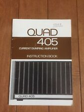 Original Quad 405 amplifier instructions manual - Great shape