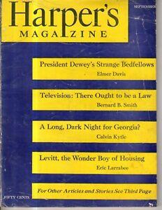 1948 Harpers September - Levittown;Anne Morrow Lindbergh;Long dark night Georgia
