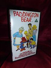 1989 OOP PADDINGTON BEAR VHS 3 Episodes 60 mins Hanna Barbera *FREE UK P&P!*