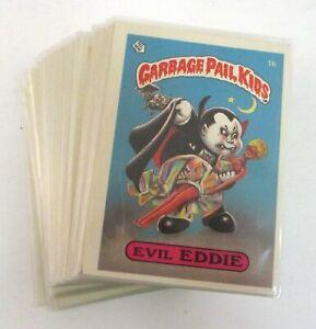 1985 Garbage Pail Kids Series 1 Complete Set of 82 Cards Topps Matte GPK