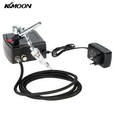 KKMOON Kit Elettro Compressore Aerografo Professionale Doppia Azione 0.3mm N2R0