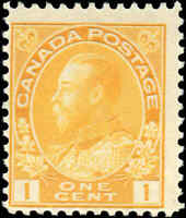 Mint Canada 1c 1922 Scott #105 King George V Admiral Issue Stamp Never Hinged