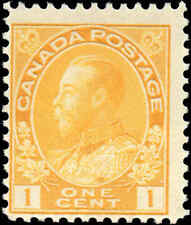 Mint NH Canada 1c 1922 F Scott #105 King George V Admiral Stamp