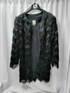 ❤ Stunning Biba Tassel Jacket Coat Black New Without Tags Size Xs