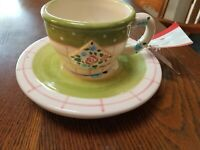 Mary Engelbreit Cup Saucer Rose Patch NWT