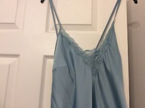 Marks & Spencers Ladies Cami Nightdress Size 14 Light Blue BNWTS