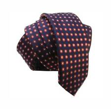 cravattino CRAVATTA STRETTA BLU Skinny tie CLASSICO cerchietto ROSSO MADE ITALY