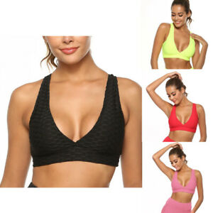 Push Up Sports Bra Womens Seamless Bras For Women Workout Fitness Top Shockproof