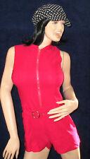 Overall, Pink, Body mit Bein, L/XL mit Reißverschluss und eingearbeiteten Gürtel