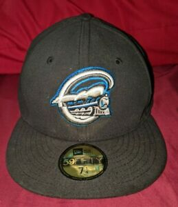 New Era 59FIFTY MiLB Syracuse Chiefs Men's Black Fitted Cap 7 1/4 Hat MLB RARE