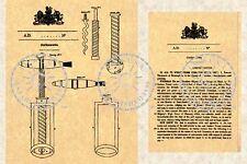 Patent for Sir Edward Thomason's CORKSCREW #026