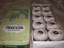 Freccia Filo Di Scozia Crotchet Thread Vintage 10 X 50g NEW 500g Box Beige Cream