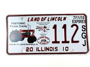 Tractor Picture License Plate Art 2010 Special Event Illinois Farm Days Gift Men