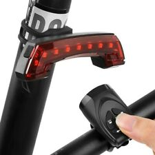 Bicycle Bike Indicator LED Rear Tail Light USB Wireless w/ Remote Warning Light