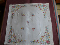 #1711  Beautiful Vintage Embroidery Hand Made Tablecloth  128cm/128cm(50''x50'')