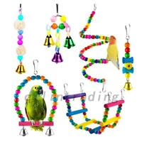 6 PCS PACK BEAKS METAL ROPE SMALL PARROT BUDGIE COCKATIEL CAGE BIRD TOYS AU