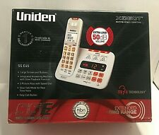 UNIDEN SS E45 VISUAL & HEARING IMPAIRED CORDLESS DIGITAL PHONE SYSTEM Free Post