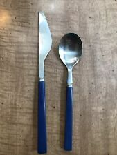 ANACAPA FORGE Navy BLUE Stainless Melamine  Knife Spoon Colorful Picnic ware