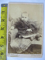 Antique 1885 Cabinet Card Photo Baby Child Chair Portrait Texas Dated