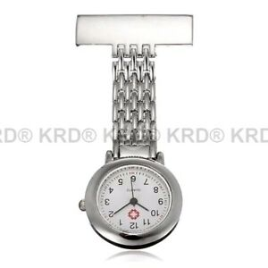 Stainless Steel Nurse Watch Brooch Tunic Fob Watches Gift UK