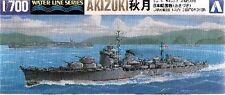 """DESTROYER JAPONAIS """"AKIZUKI"""", 1944 - KIT AOSHIMA 1/700 n° 016756"""