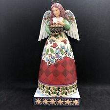 Jim Shore Angel Blessed Nest Christmas Angel With Cardinals #4015293 2009