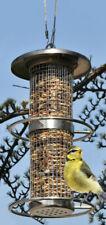 Edelstahl Vogel Futterstation mit 2 Sitzringen - Vogel Futterhaus Futterstelle